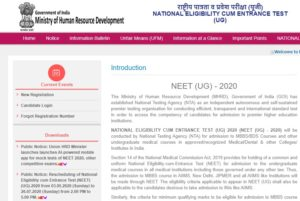 Read more about the article Rescheduling of NEET Exam 2020