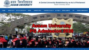 Read more about the article Assam University PG Admission 2020