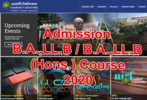 Read more about the article Gauhati University B.A. LL.B. Admission Notice 2020
