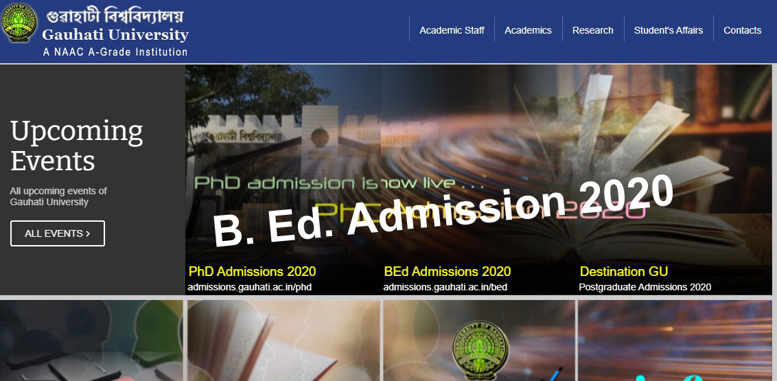 Read more about the article Gauhati University B.Ed. Common Entrance Test 2020